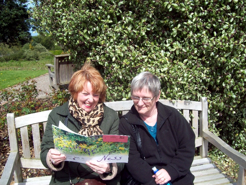 Muriel and Maria enjoying a lovely sunny day at Ness Gardens