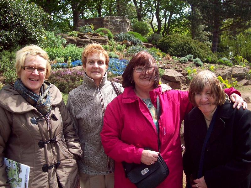 Olive and Lorraine enjoying a day out at Ness Gardens with Knowsley Carers Centre