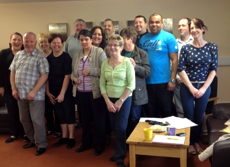 Our lovely carers at one of the Kirkby Coffee Mornings