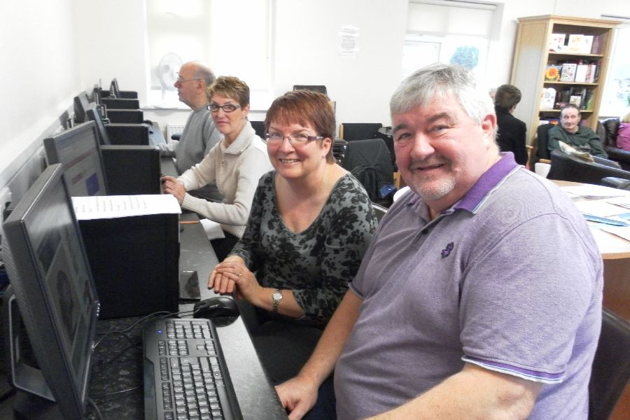 Bobby, one of our IT regulars, with Judy at Carers Rights Day