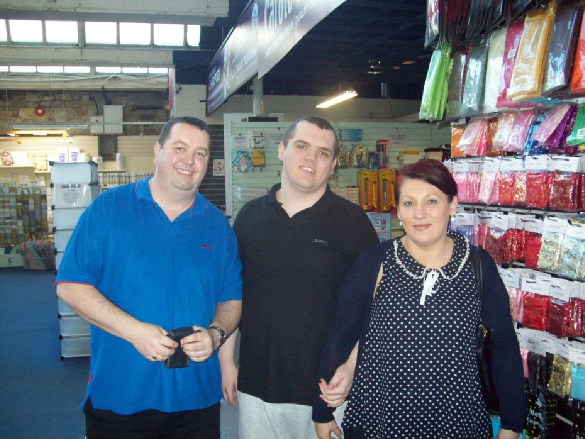 Nicky, Kenny and Ian on one of our day trips to Oswaldtwistle Mills
