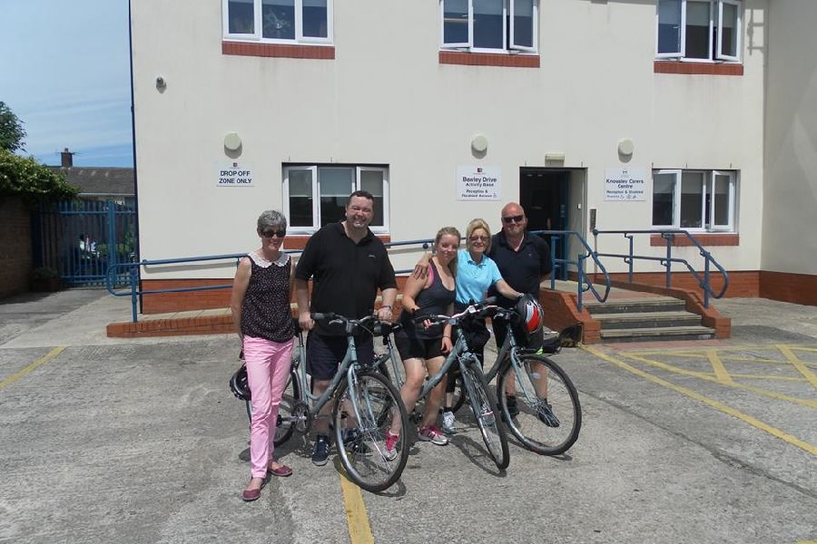 Our fab 3 raised over �700 with their bike ride for carers!!