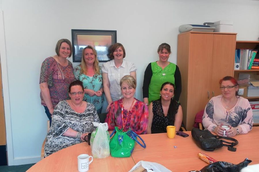 Helen and the lovely ladies from the  Extra Special People  group