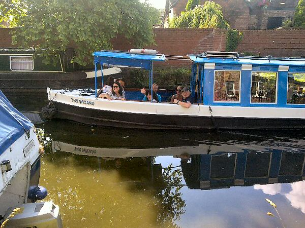 Carers enjoying a well earned break on our barge trip through Cheshire